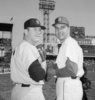 Mickey Mantle & Ken Boyer Prior To Game 1 of 1964 World Series