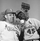 1964 World Series Curt Simmons & Bob Gibson